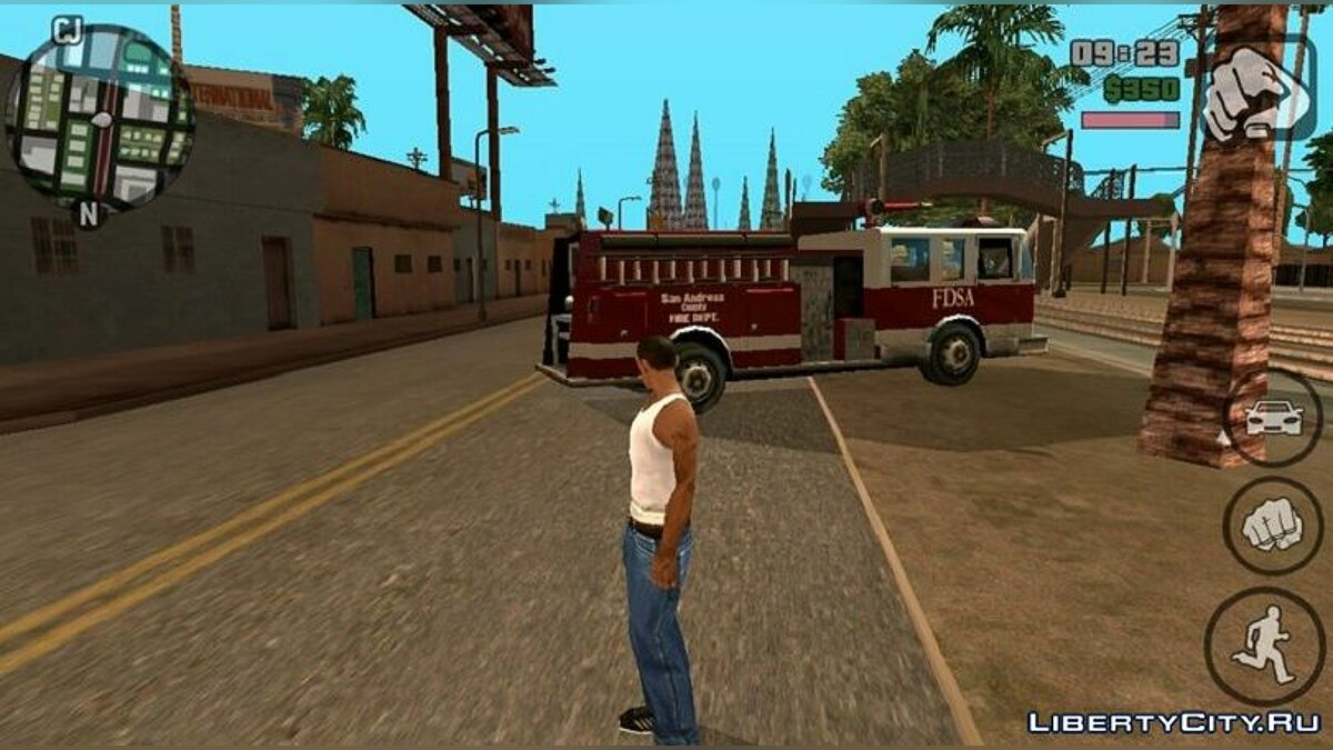 CLEO script Call the firemen like in GTA 5 for GTA San Andreas (iOS, Android)