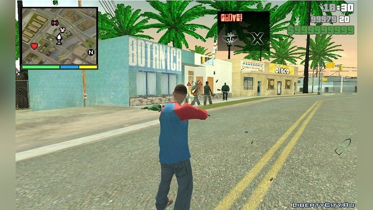 CLEO script Infinite ammo for GTA San Andreas (iOS, Android)