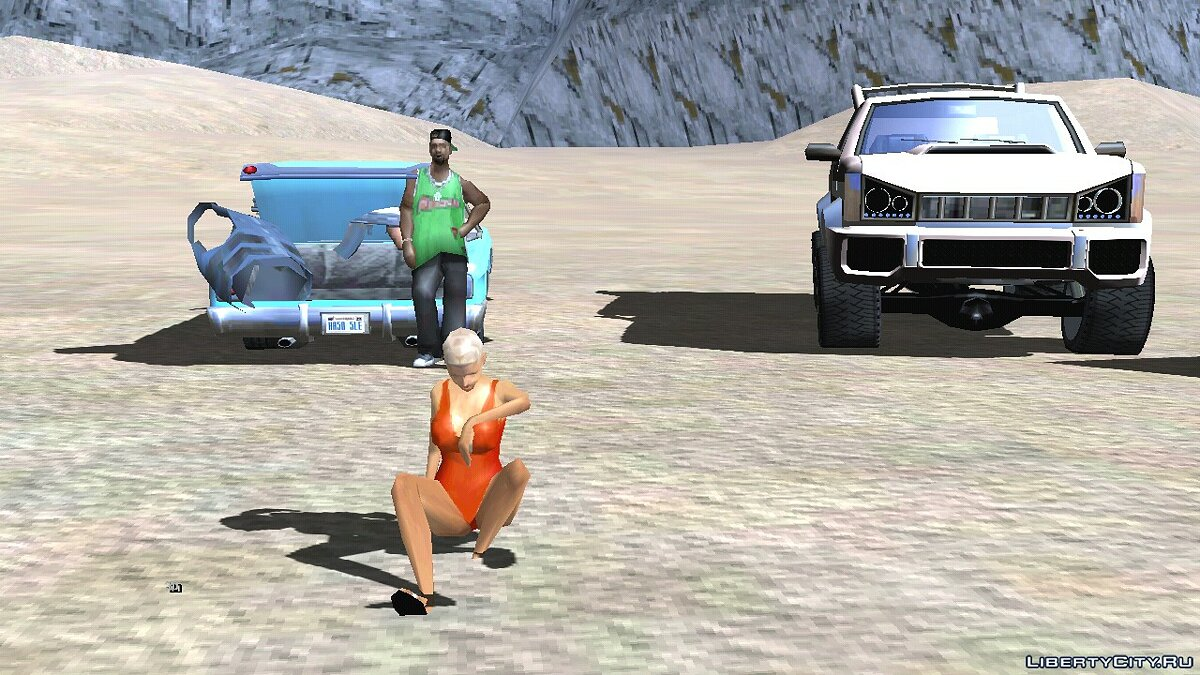 CLEO script Beach party for GTA San Andreas (iOS, Android)
