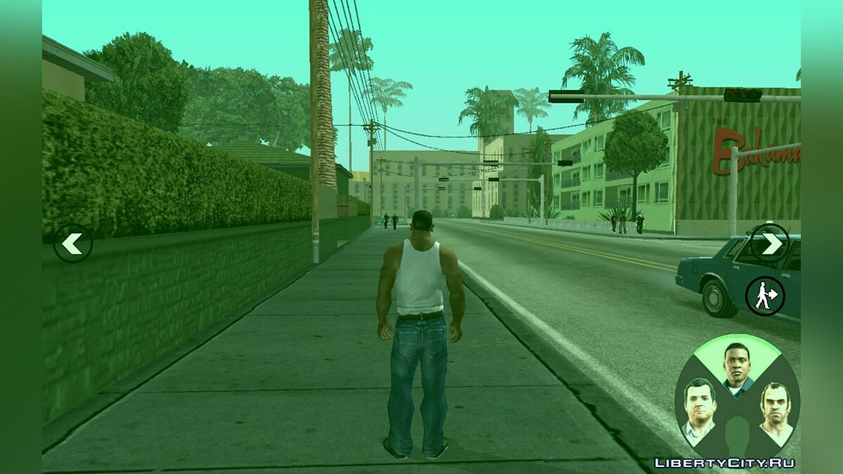 Switching characters like in GTA V for Android for GTA San Andreas (iOS, Android)