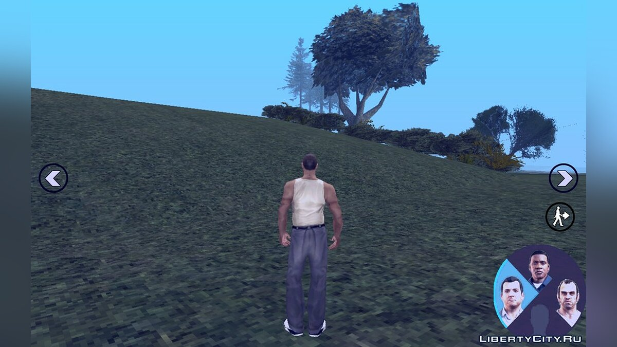 Switching characters like in GTA V for Android for GTA San Andreas (iOS, Android) - screenshot #3