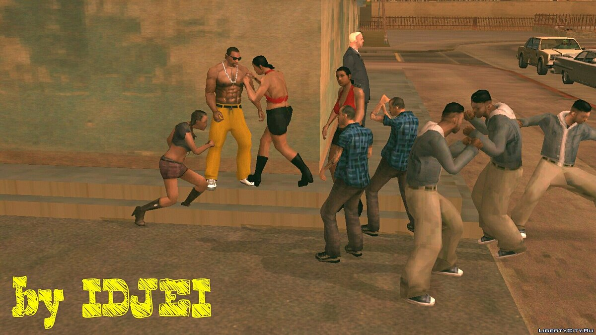 Street fight in LS (1.0) for GTA San Andreas (iOS, Android) - Картинка #3