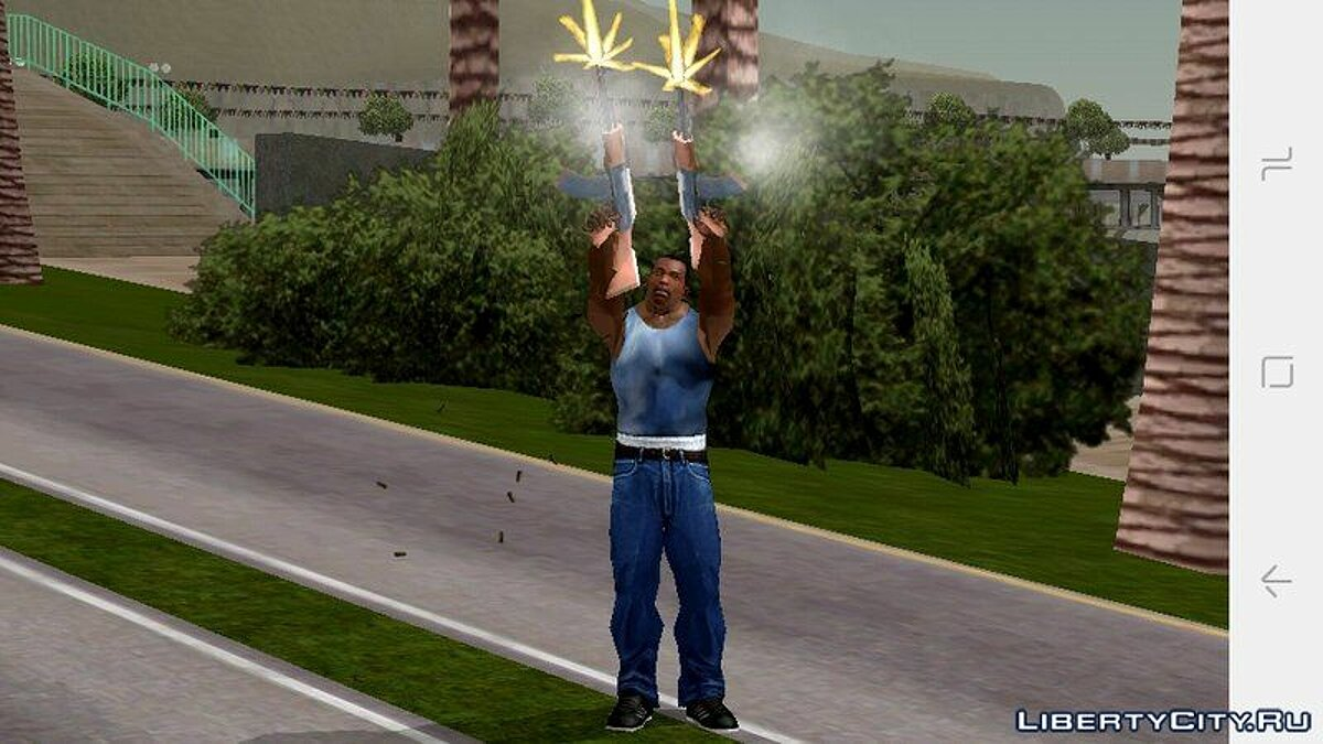 CLEO script AK-47 in two hands for GTA San Andreas (iOS, Android)