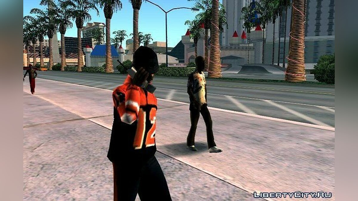 CLEO script Peds walk with Phone for GTA San Andreas (iOS, Android)