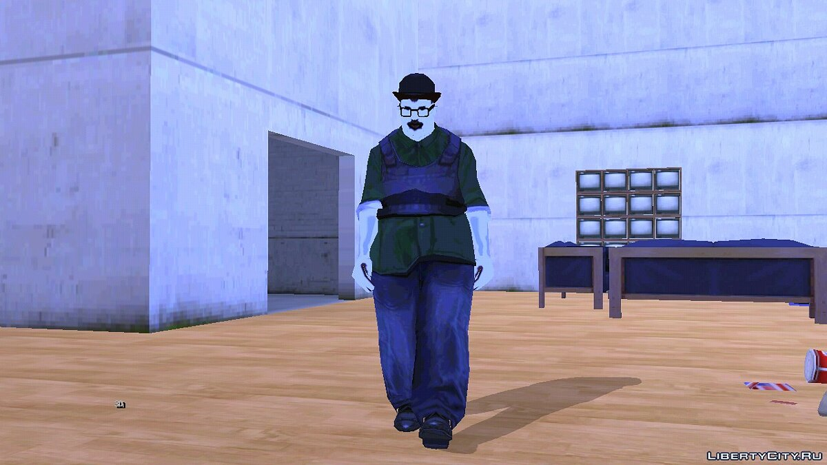 CLEO script Big Smoke Ghost for GTA San Andreas (iOS, Android)