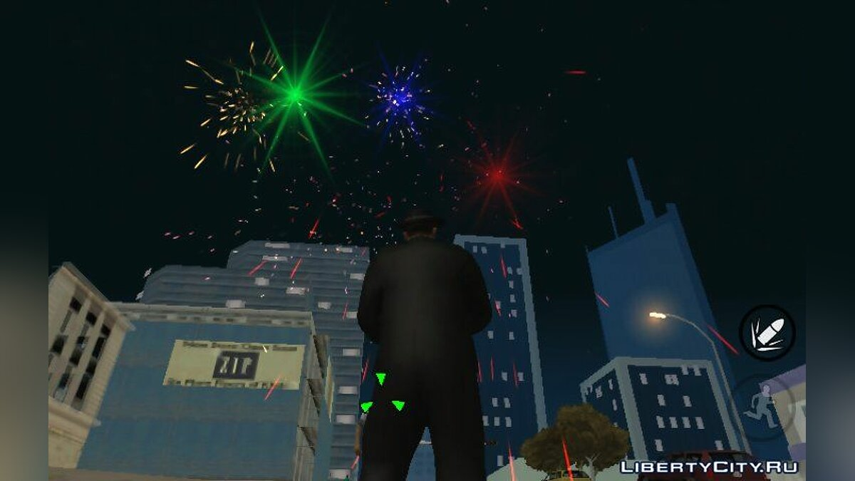 CLEO script Firework Mod - New Year's Fireworks 2019 for GTA San Andreas (iOS, Android)