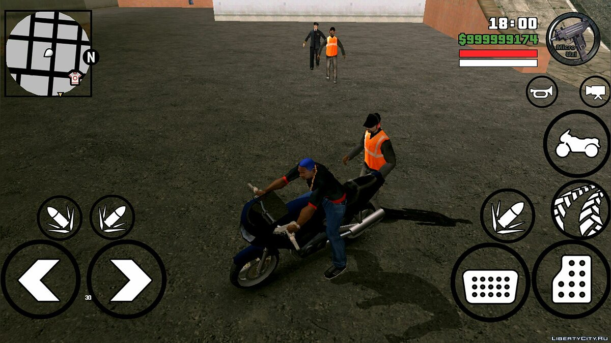 CLEO script The Walking Dead for GTA San Andreas (iOS, Android)