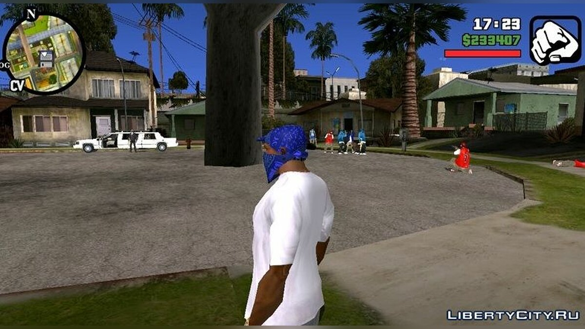 CLEO script The war between Grove and Ballas V1 for GTA San Andreas (iOS, Android)