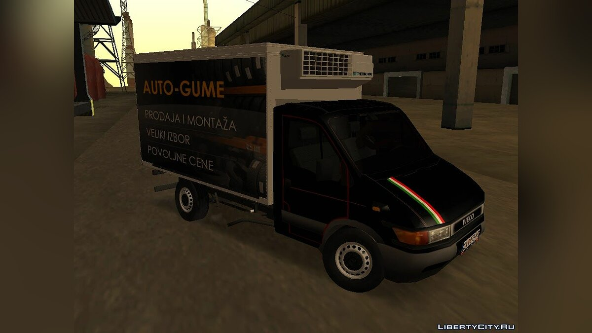 Iveco car Iveco Daily Mk2 Transporter for GTA San Andreas