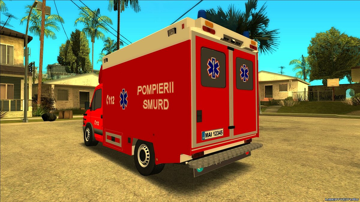 Iveco car Iveco Daily Pompierii SMURD for GTA San Andreas