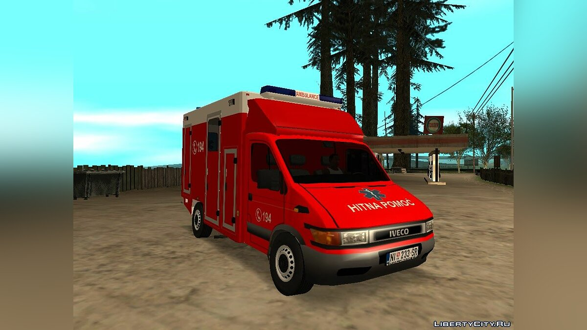 Iveco car Iveco Daily Mk2 Hitna Pomoc (RTW) for GTA San Andreas