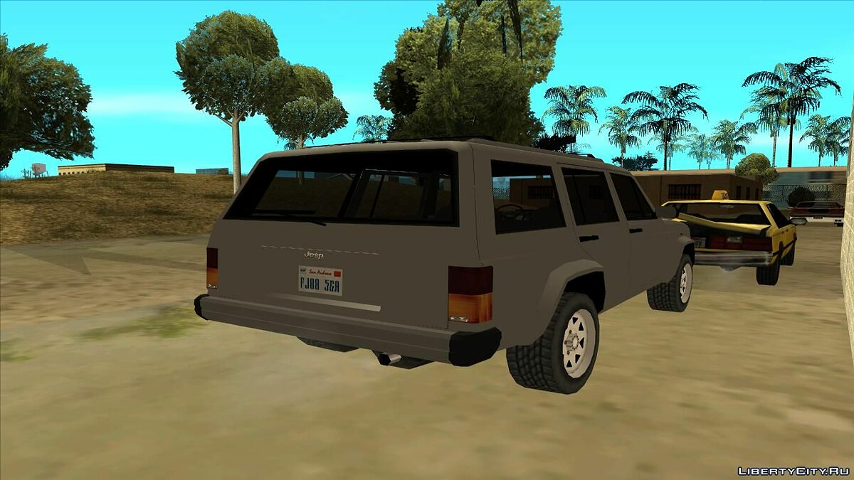 Jeep car Jeep Cherokee Low Poly for GTA San Andreas