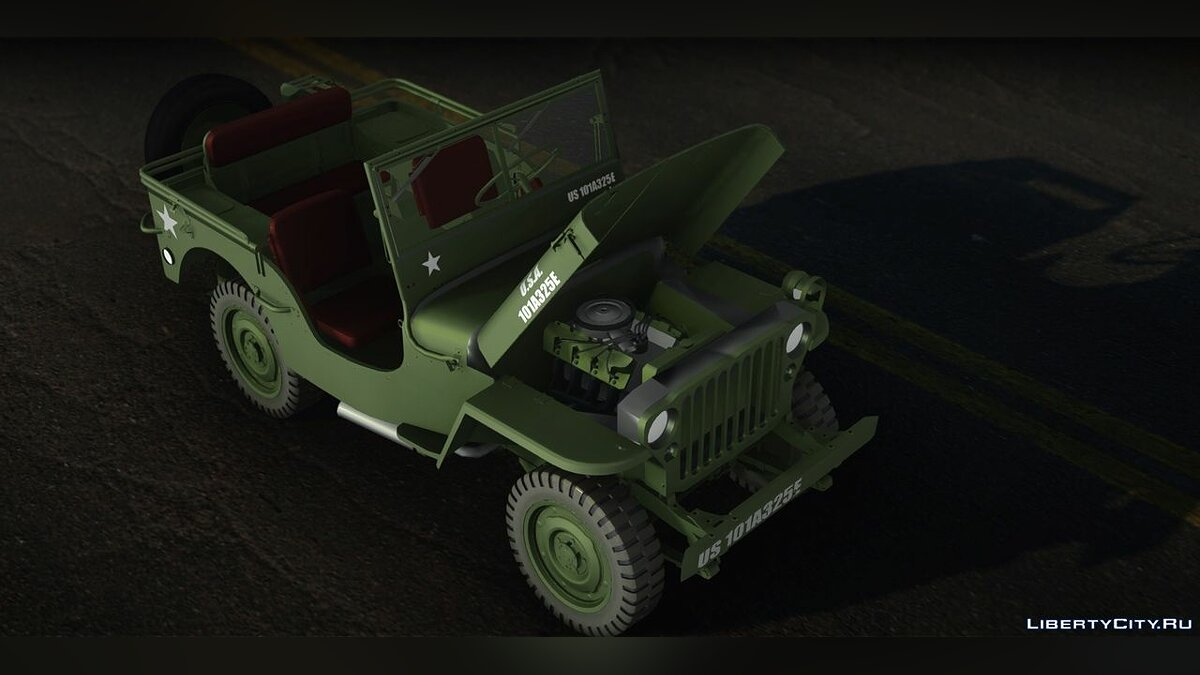 Jeep car 1945 Willys MB 'Jeep' for GTA San Andreas