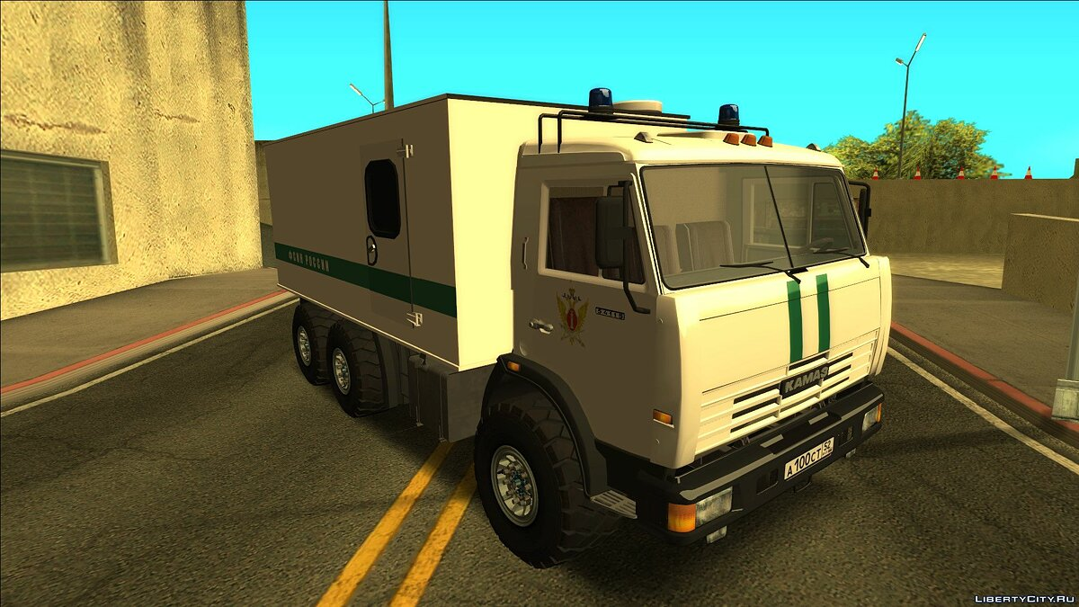 KamAZ car KAMAZ 54115 - in the colors of the Federal Penitentiary Service of Russia for GTA San Andreas
