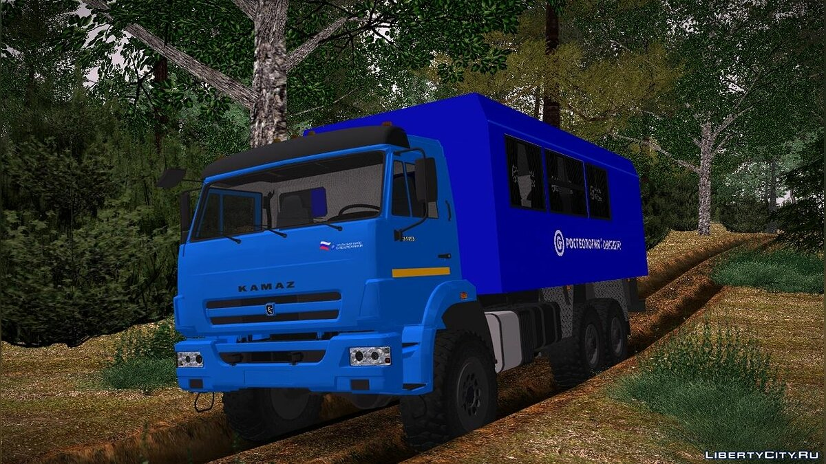 KamAZ car Kamaz 43118 Rosgeology PGO UZST for GTA San Andreas