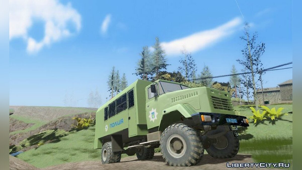 KrAZ car KrAZ - Police of Ukraine for GTA San Andreas
