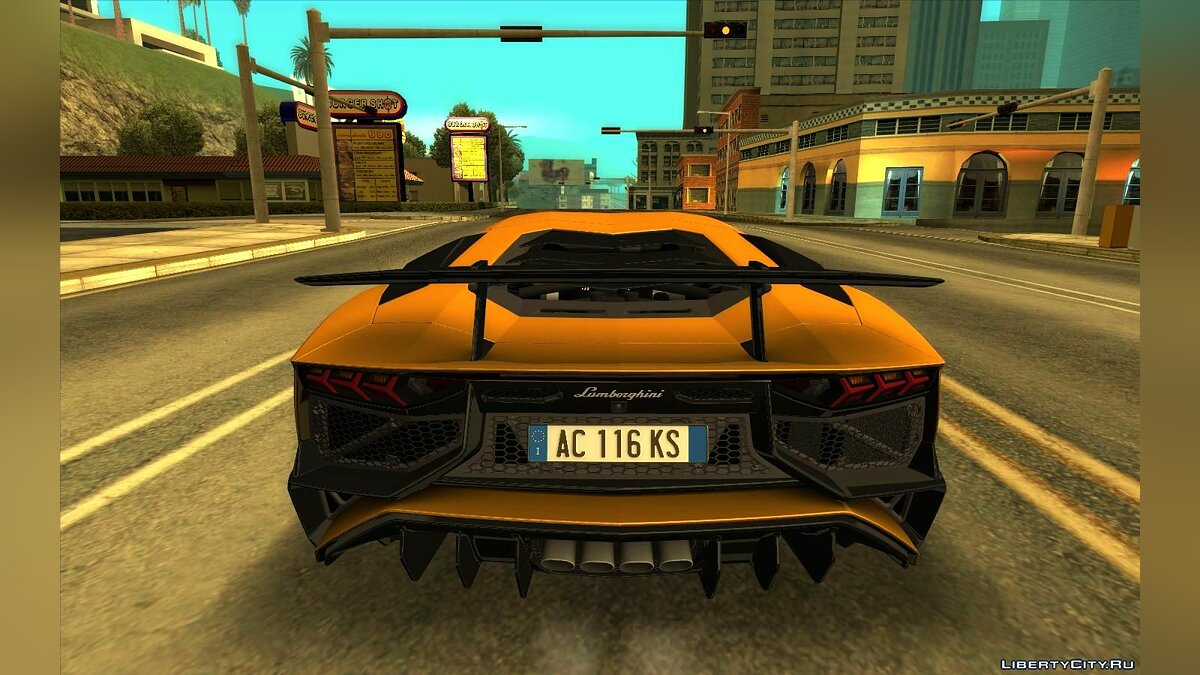 Lamborghini car Lamborghini Aventador SV Coupe B2 for GTA San Andreas