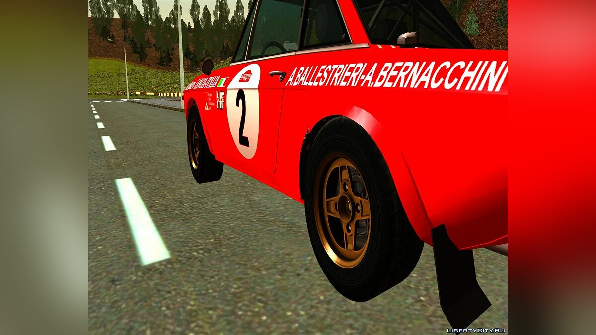 Lancia car Lancia Fulvia Rally Marlboro for GTA San Andreas