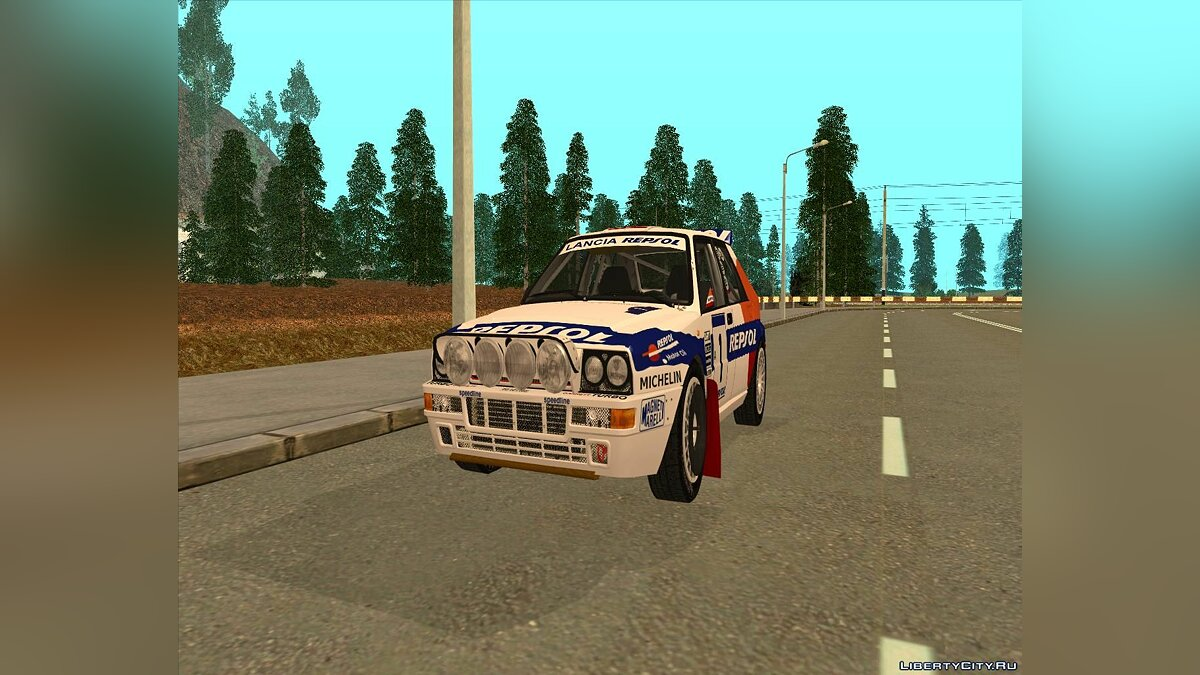 Lancia car Lancia Delta HF Integrale for GTA San Andreas