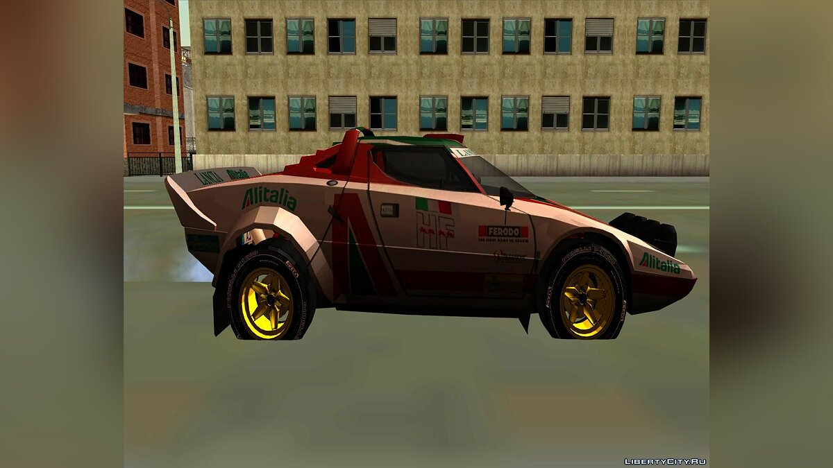 Lancia car Lancia Stratos Rally for GTA San Andreas