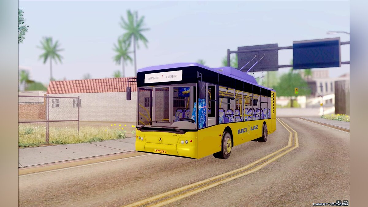 LAZ car ElectroLAZ (LAZ E-183) for GTA San Andreas