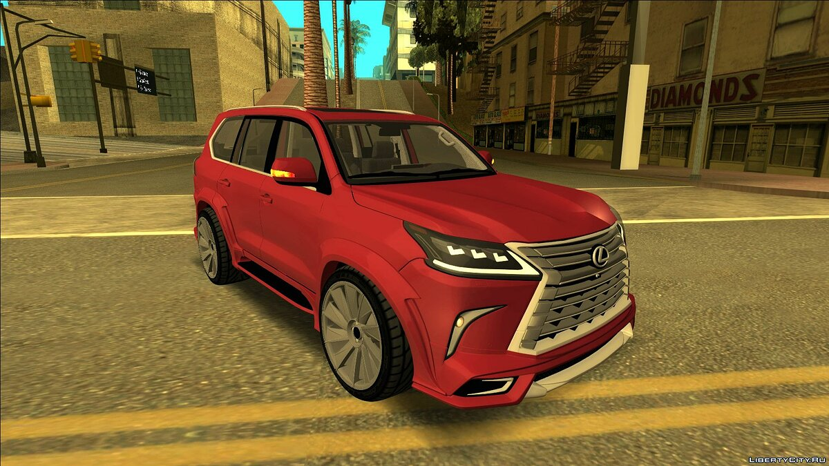 Lexus car 2016 Lexus LX-570 Wald for GTA San Andreas