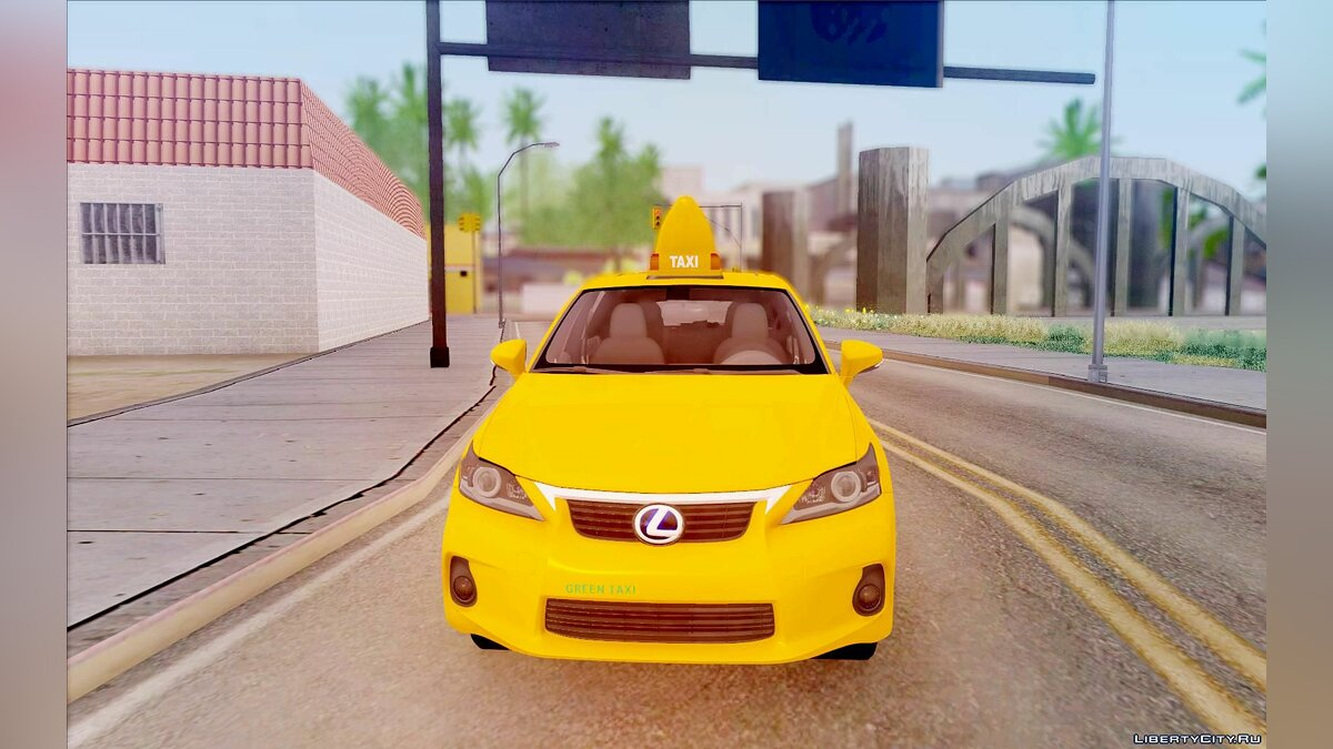 Lexus car Lexus CT 200h Taxi for GTA San Andreas