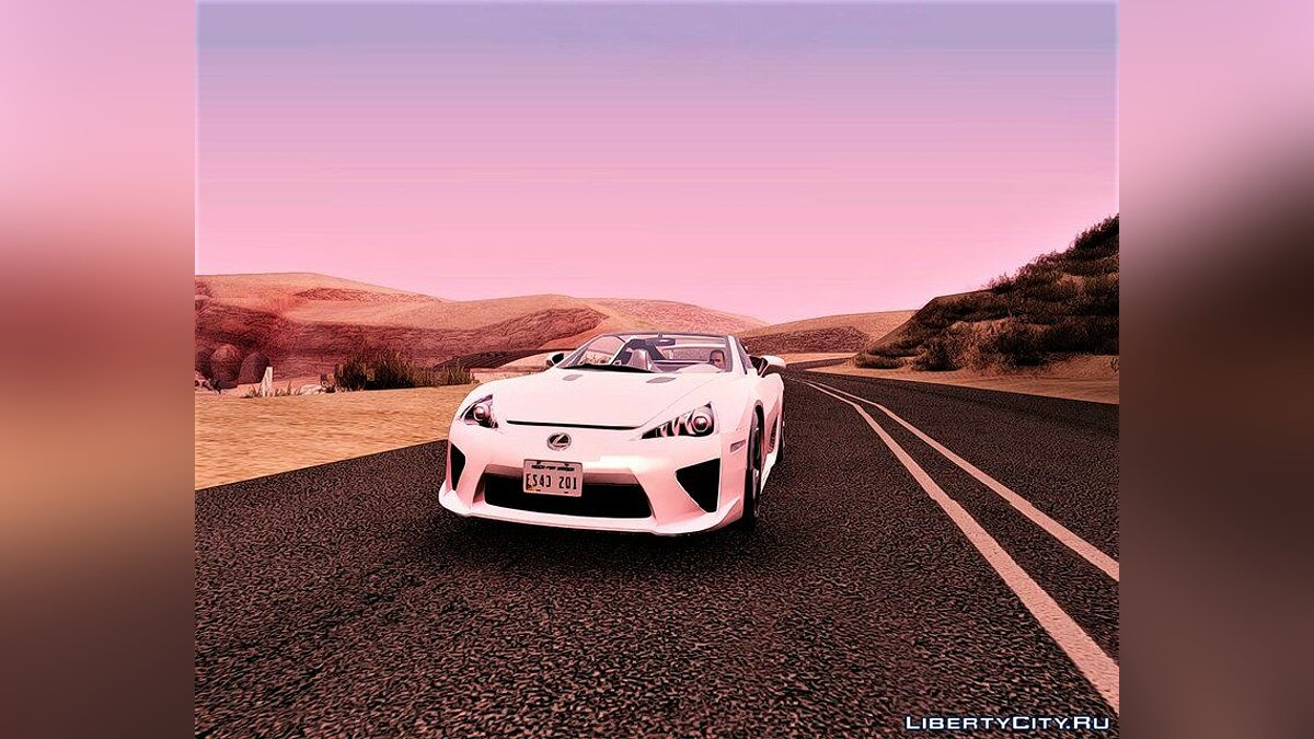 Lexus car 2013 Lexus LFA Roadster for GTA San Andreas