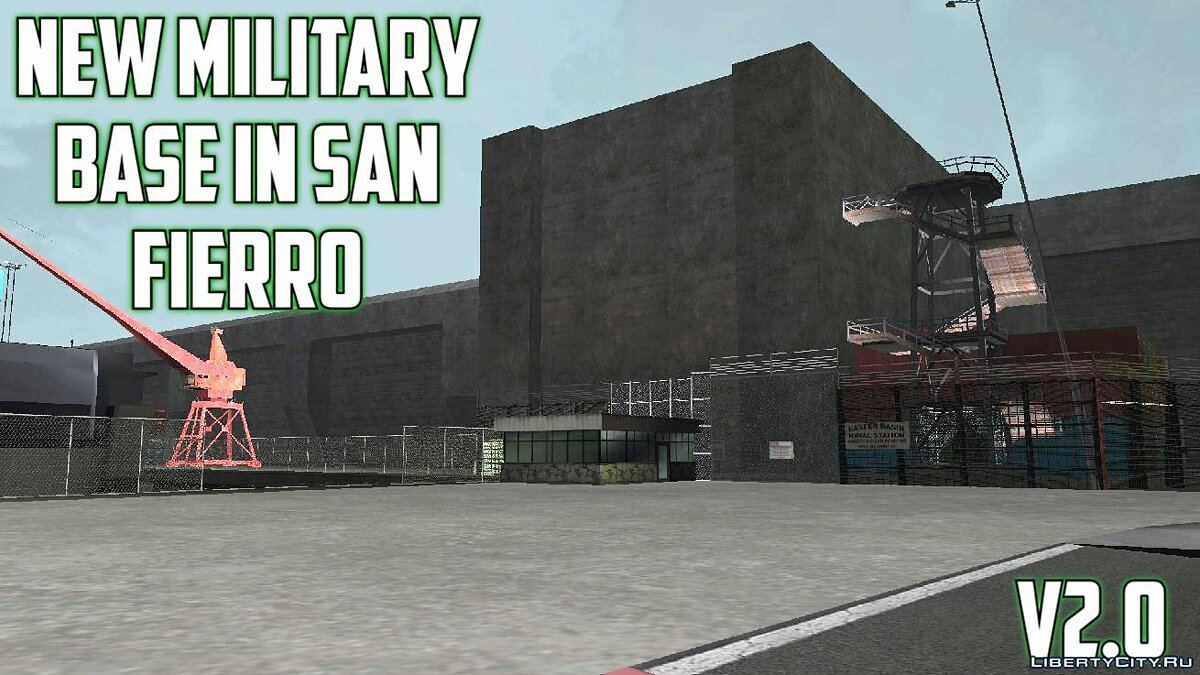 Islands and locations New military base in San Fierro 2.0 for GTA San Andreas