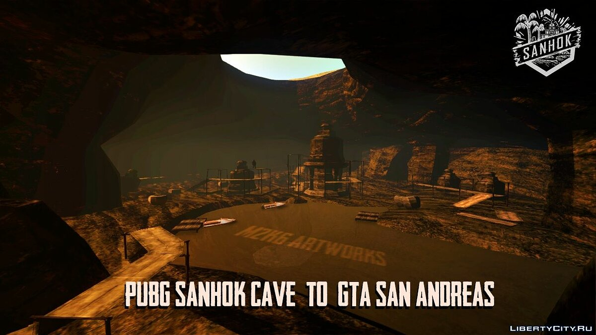 Islands and locations PUBG Sanhok Cave - secret cave from Sanhok map from PUBG for GTA San Andreas