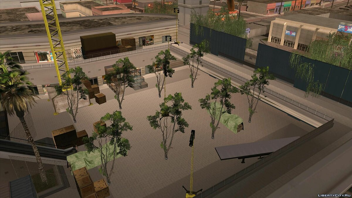 Islands and locations Reconstruction of the Shopping Center in the LS for GTA San Andreas