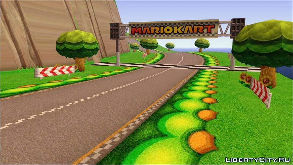 Islands and locations Mario Kart Wii Sunny Island - Sunny Island Map for GTA San Andreas