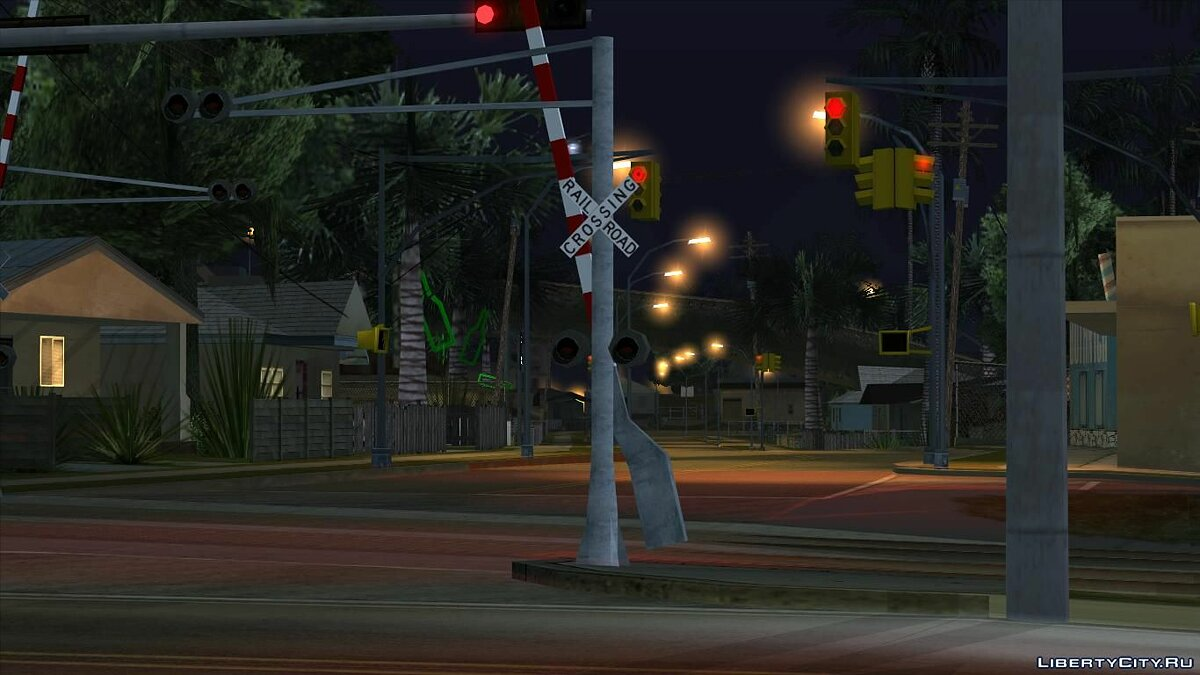 Islands and locations Missing railroad crossing barriers in LS for GTA San Andreas