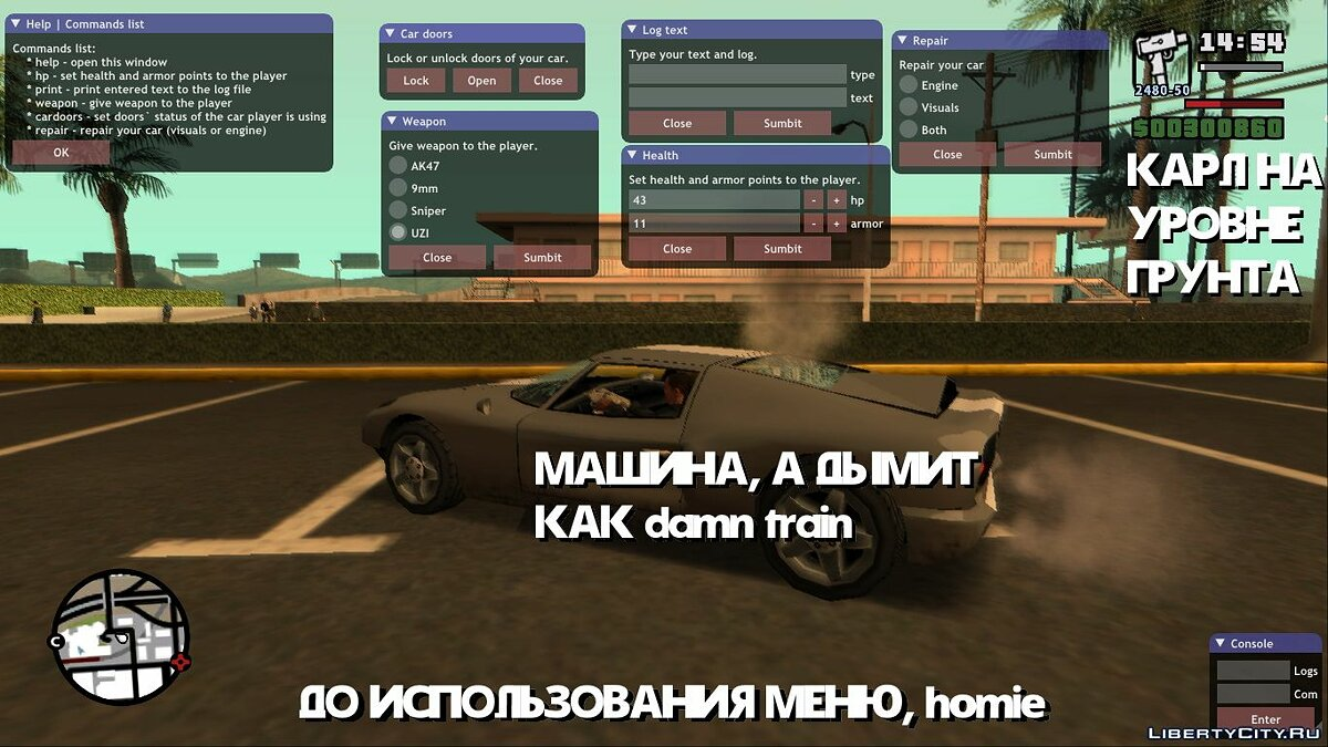 LUA script Lua ImGUI dialog windows for GTA San Andreas