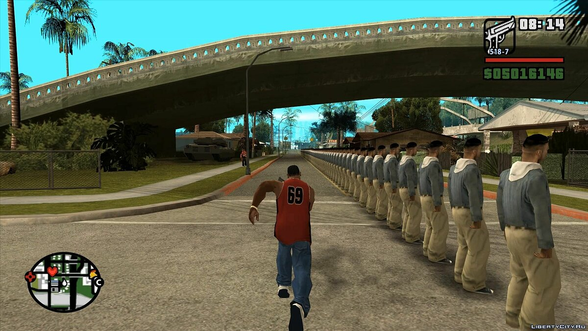 LUA script Create an array of peds. for GTA San Andreas