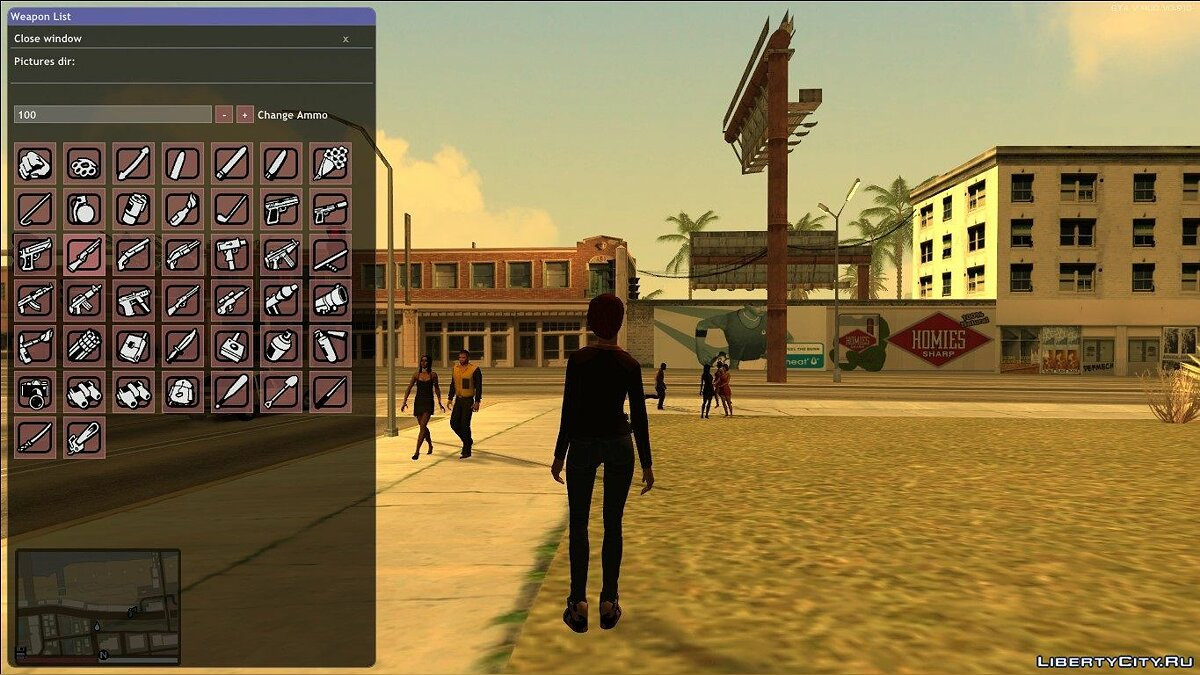 LUA script Visual Weapon Picker - Weapon Spavner for GTA San Andreas
