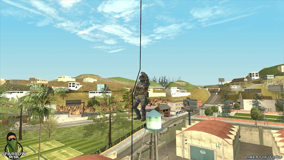 LUA script Helicopter rope descent for GTA San Andreas