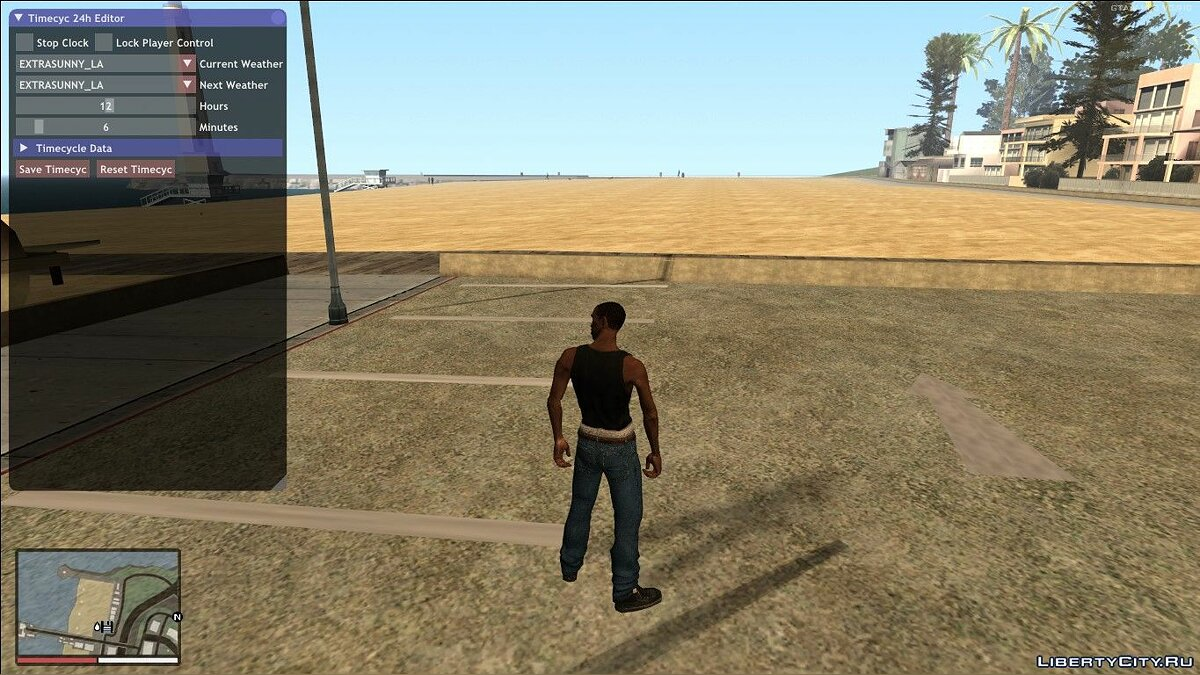 LUA script In-game 24h TimeCycle Editor for GTA San Andreas