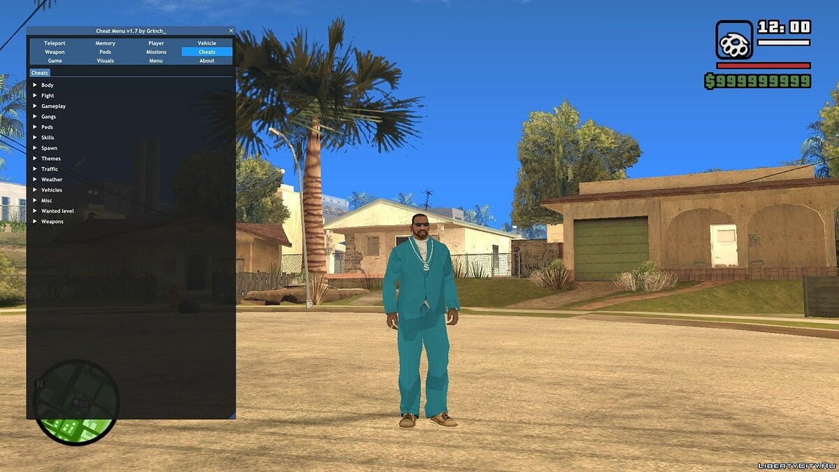 LUA script Cheat Menu for GTA San Andreas
