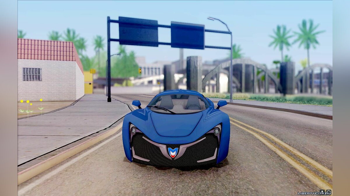 Marussia car Marussia B2 v1.1.5 for GTA San Andreas
