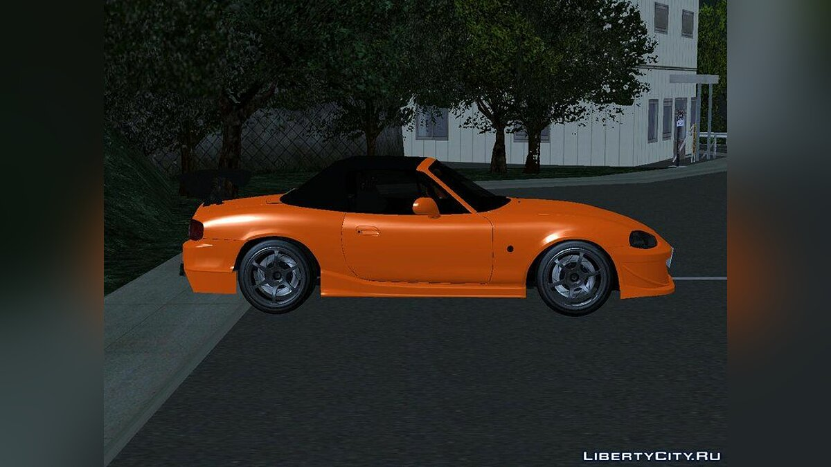 Mazda car Initial D Fifth Stage Omiya Satoshi Mazda Miata MX-5 NB8c for GTA San Andreas