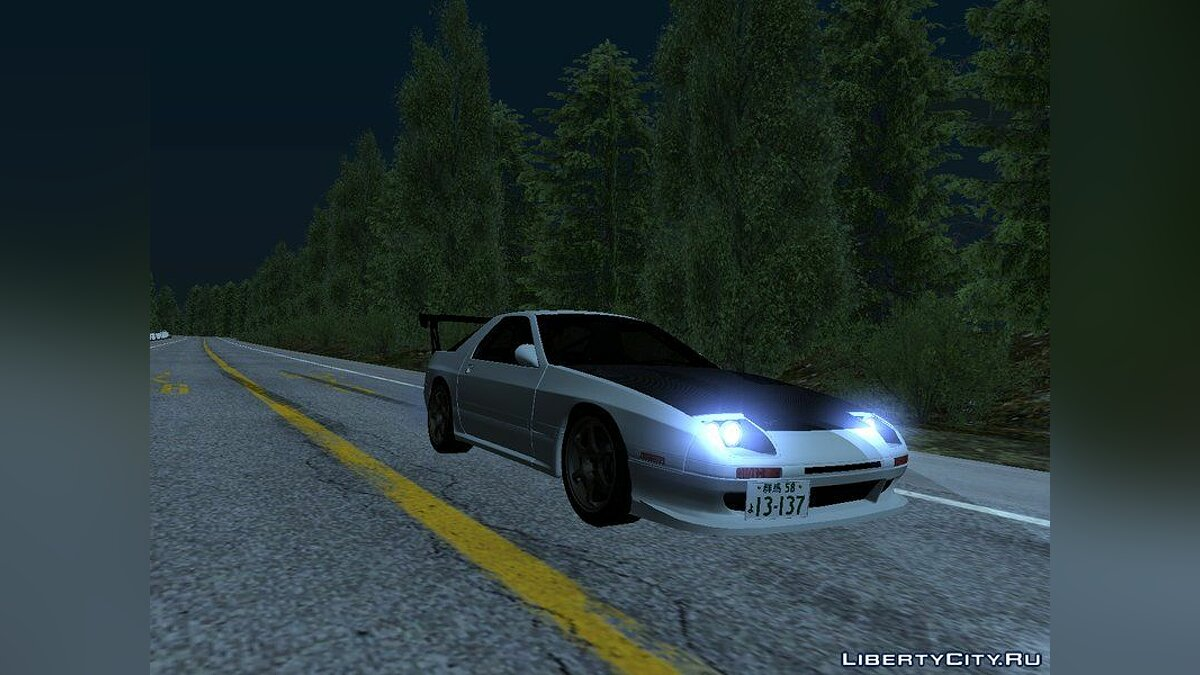 Mazda car Initial D fifth Stage Ryosuke Mazda RX-7 FC3s for GTA San Andreas