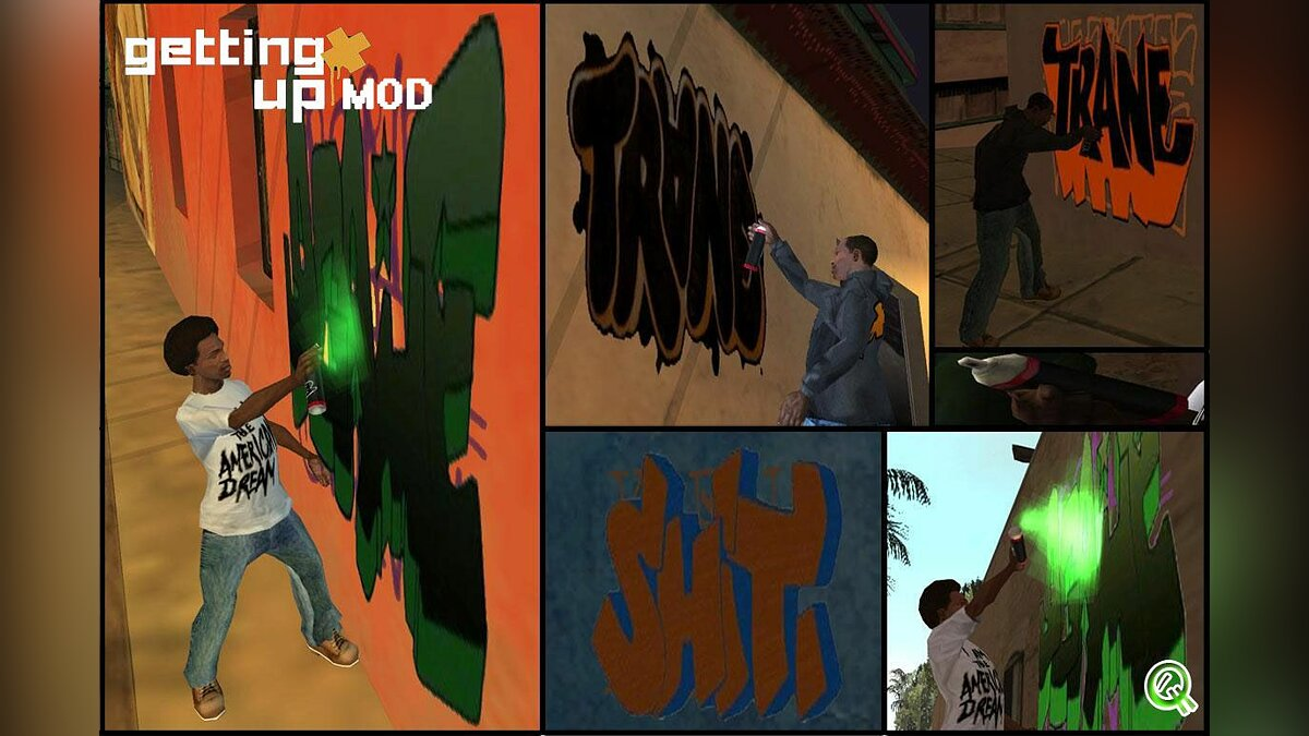 Mod Getting up mod for GTA San Andreas