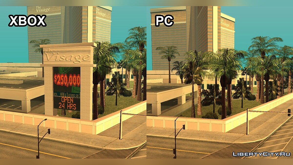 Mod Features of the XBOX card version of the game for GTA San Andreas