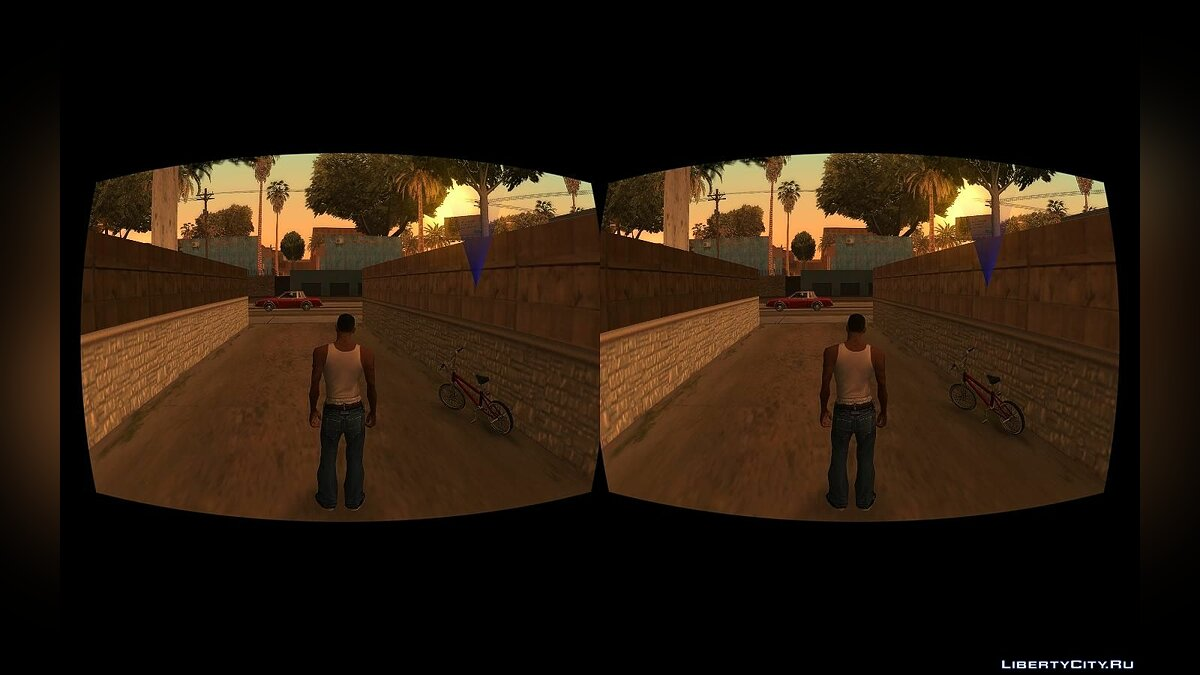 Mod Ability to play with virtual reality (VR) glasses for GTA San Andreas