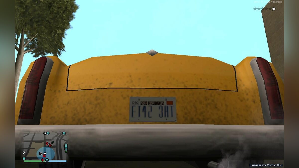 Mod License plates from GTA 5 for GTA San Andreas