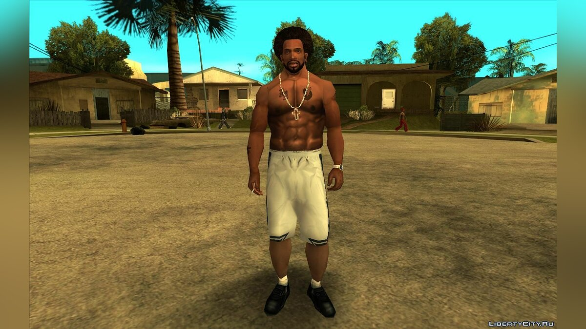 Mod Improved textures for CJ (Clothes, tattoos, hairstyles) - CJ ESRGAN Upscale for GTA San Andreas