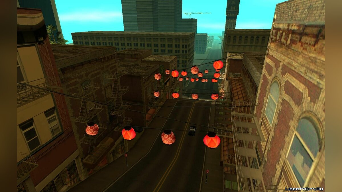 Mod Chinese lanterns in San Fierro for GTA San Andreas