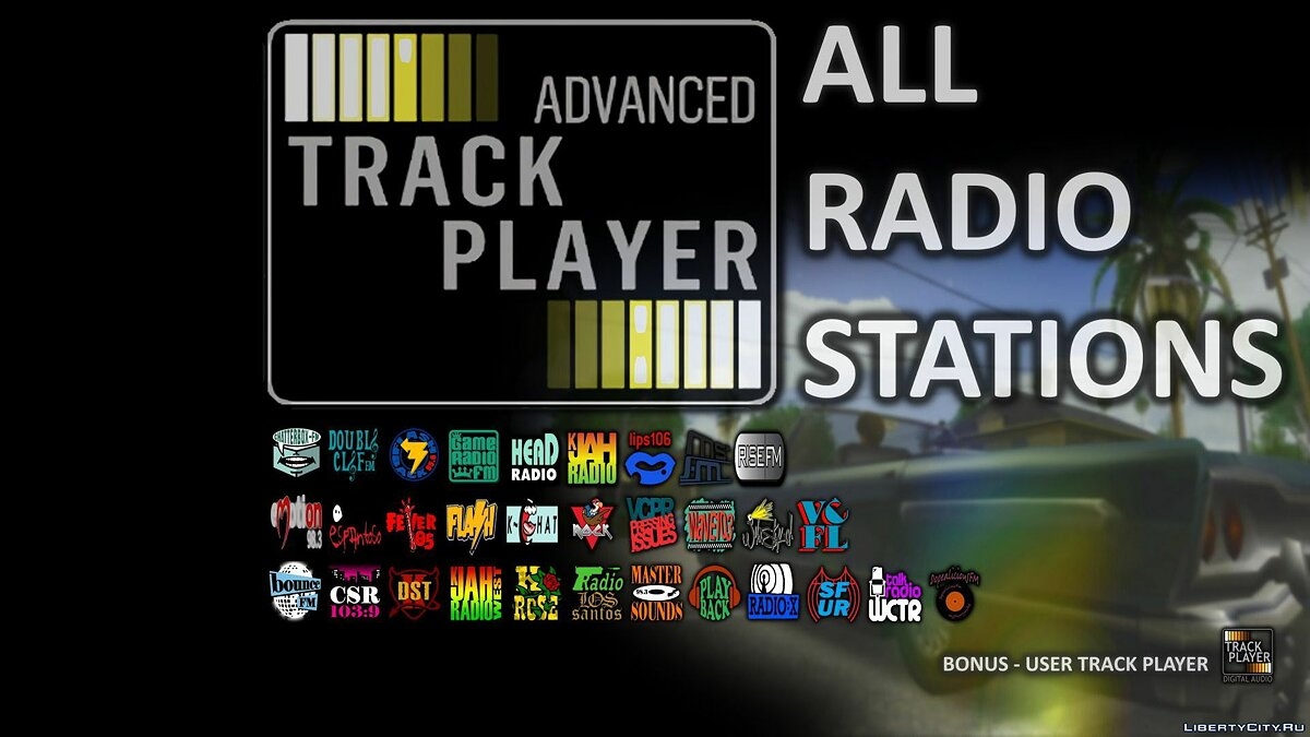 Mod ATP: All Radio Stations - Radio from all classic GTA for GTA San Andreas