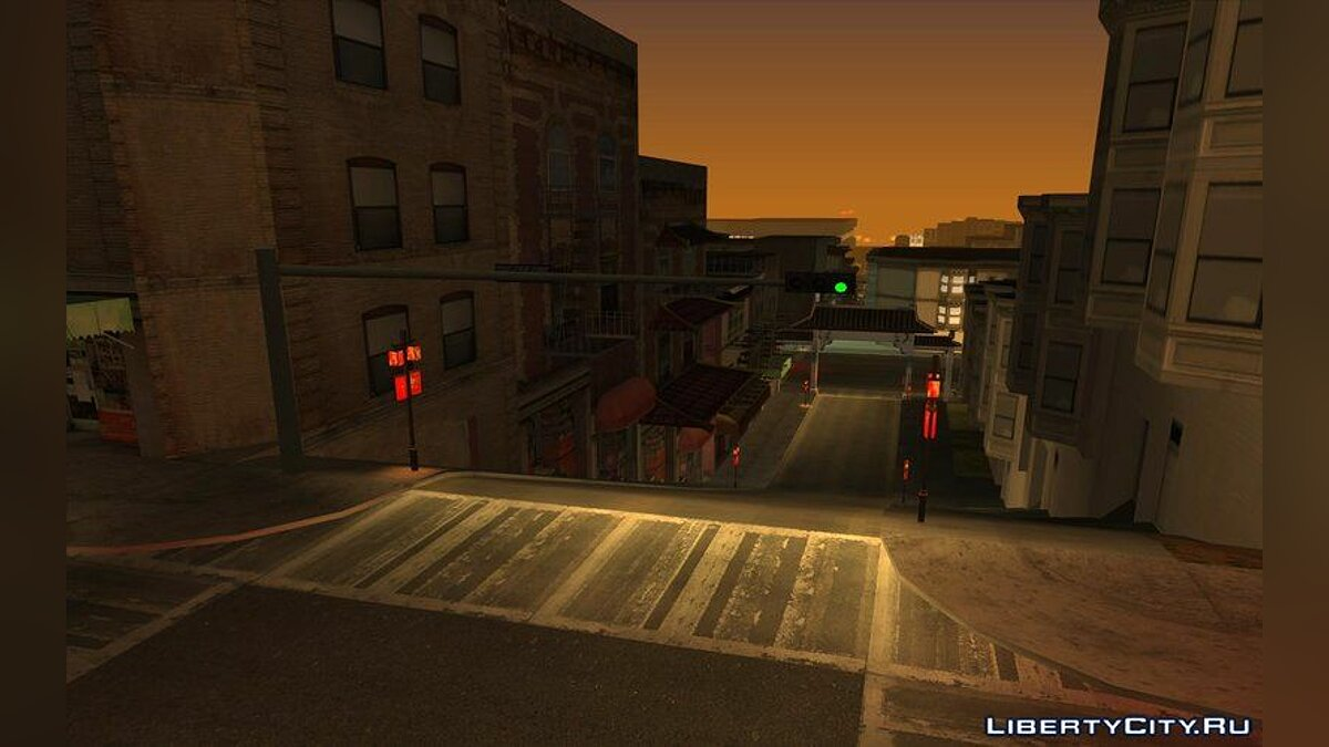 Mod New gates and lights in Chinatown for GTA San Andreas